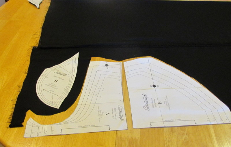Seamwork Florence bralette. Part I cutting
