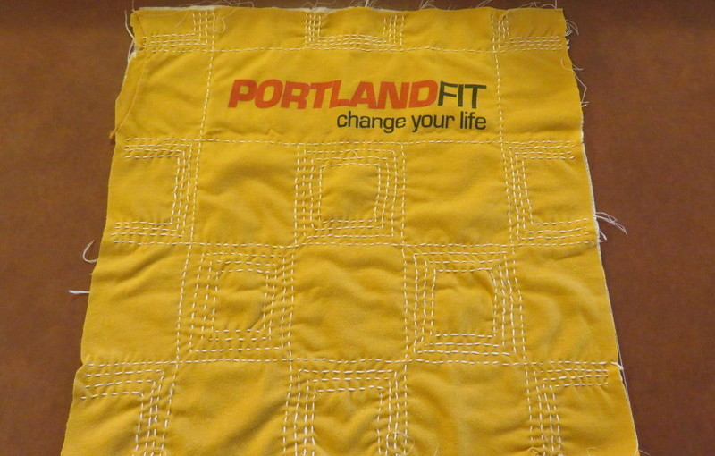 Portland Fit Sashiko T-quilt block completed.