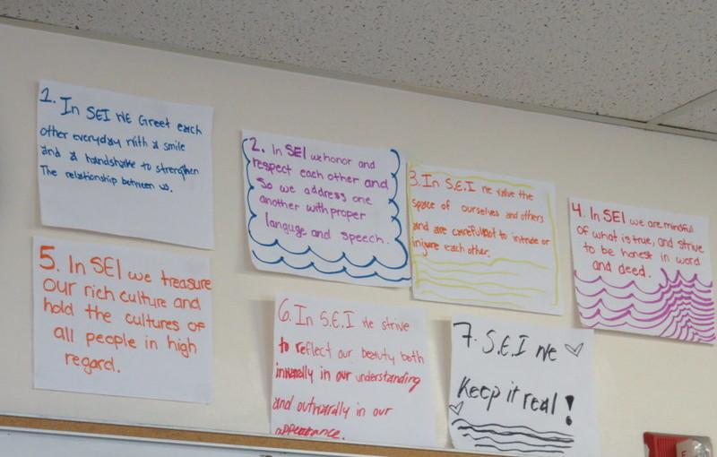 SEI classroom signs