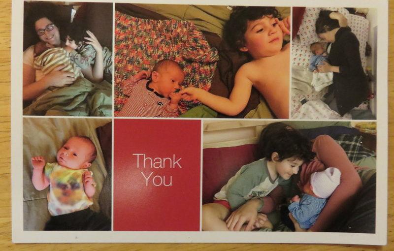 Cute thank you postcard