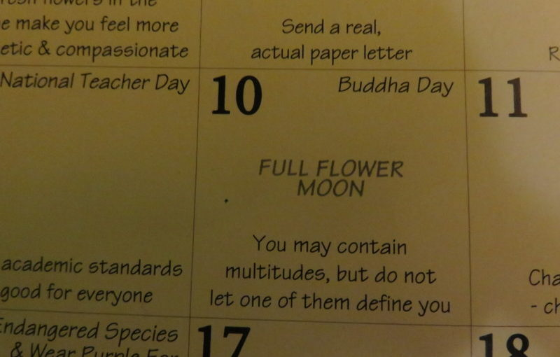 Today's Appalachian Calendar reminder
