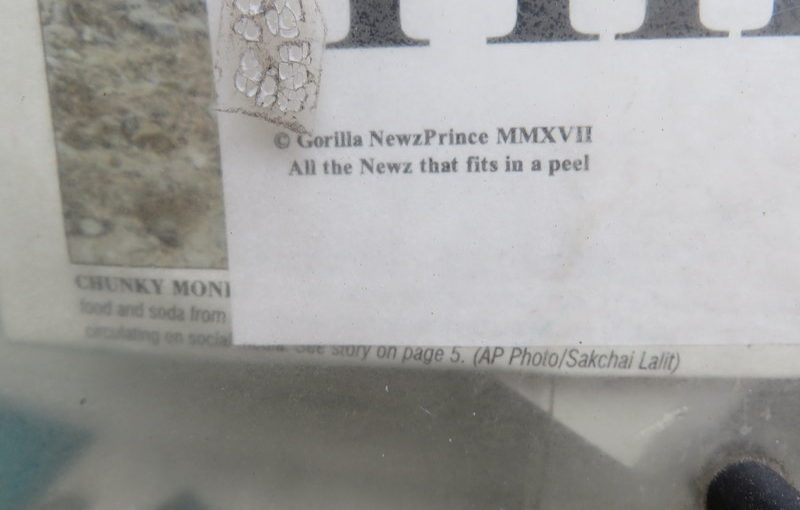 Protest Art in newspaper box