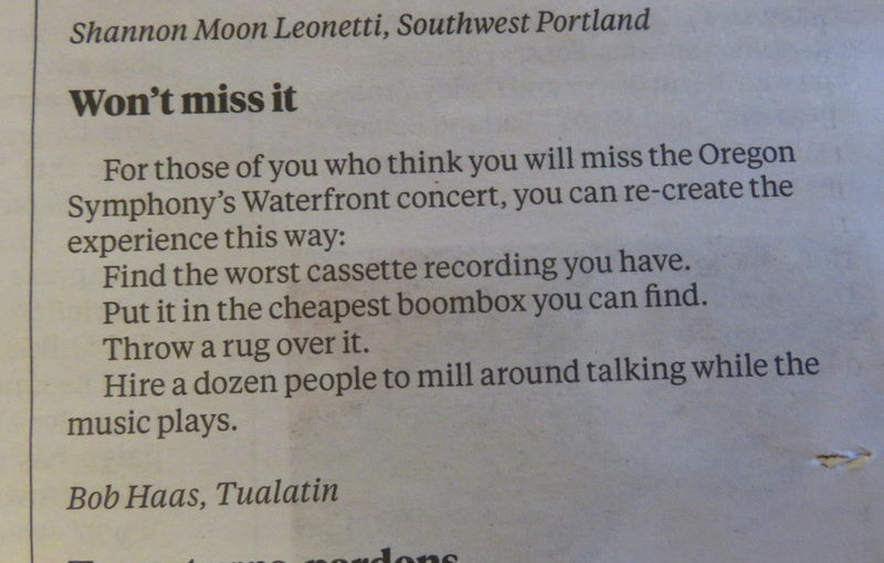 Today's letter to the editor highlight
