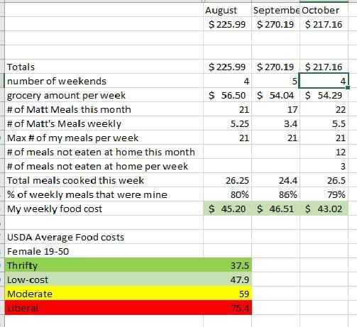 Thrift Food Plan report  October 2017