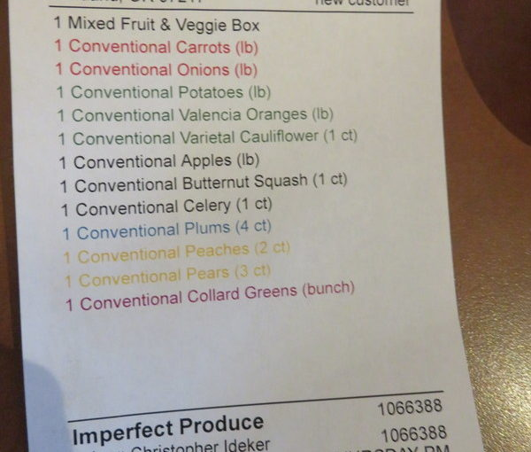 First Imperfect Produce Delivery
