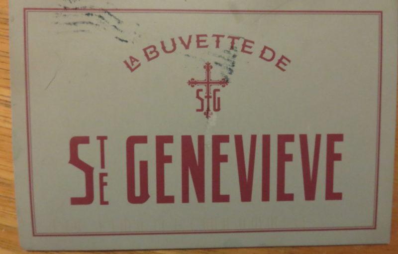 SKS Postcard: La Buvette de Ste Genevieve