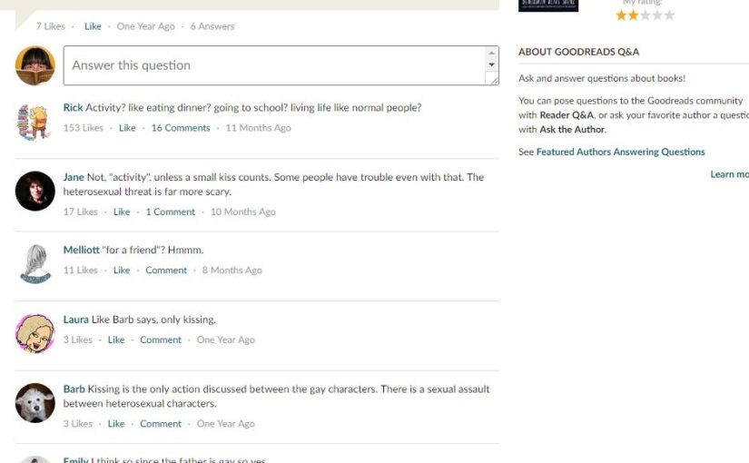 Goodreads commenter Rick makes a point