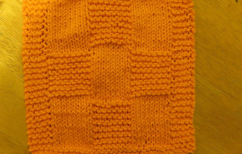 Dishcloth: Nine Patch