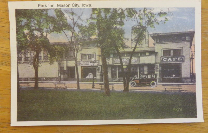 SKS Postcard: Park Inn, Mason City, Iowa