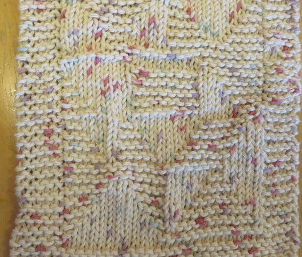 Dishcloth: Windblown Square