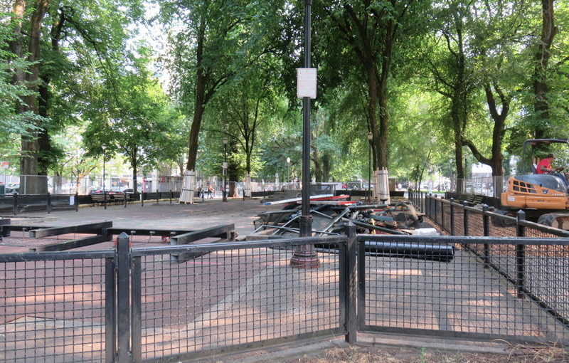 The North Park Blocks Playground as we knew it is no more.