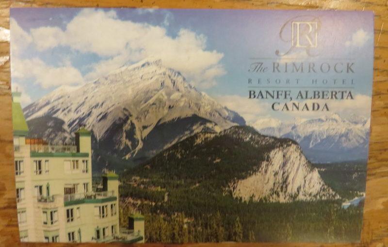 SKS Postcards: Banff, the Rimrock Hotel, Bemidji
