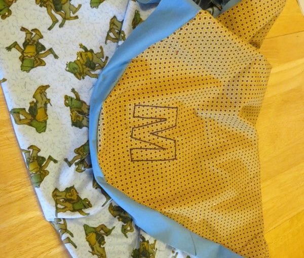 Progress on Baby M's blanket