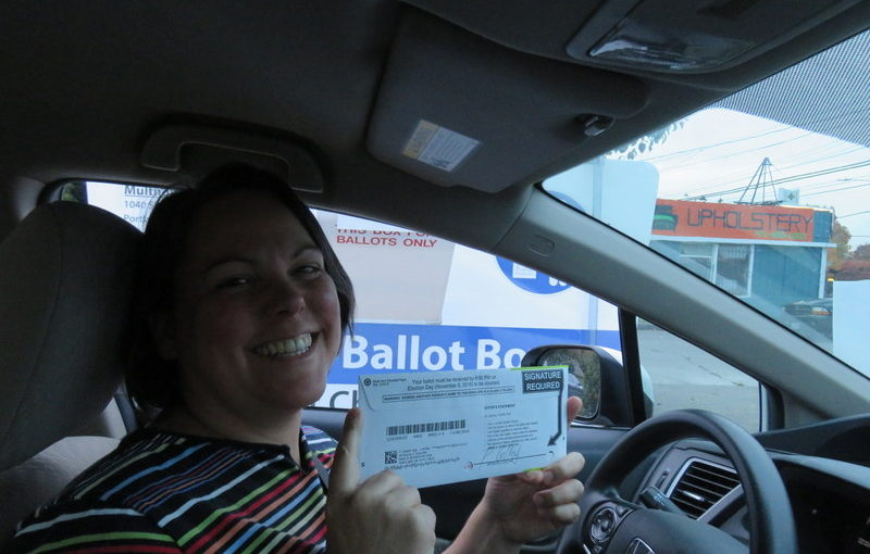 I cast my historic vote!