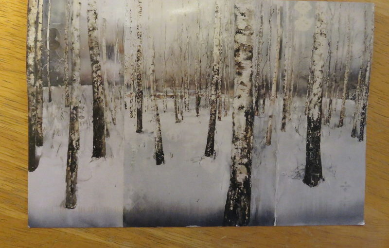 SKS Postcard: Lars Lerin's Birch Forest