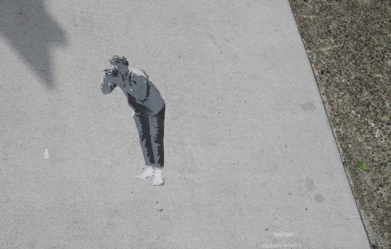 Classy sidewalk art
