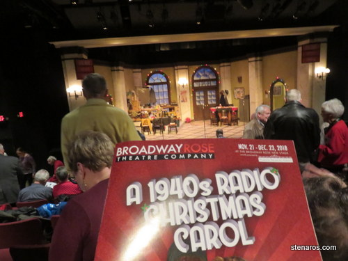 Broadway Rose Theater 1940s Radio Christmas Carol
