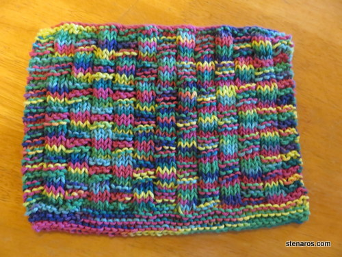 Dishcloth: Pansy Patch