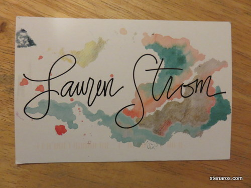 SKS Postcard: Trista Hendrickson and Lauren Strom