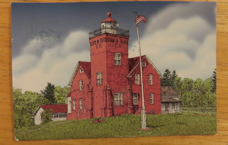 SKS Postcard: Two Harbors Lighthouse