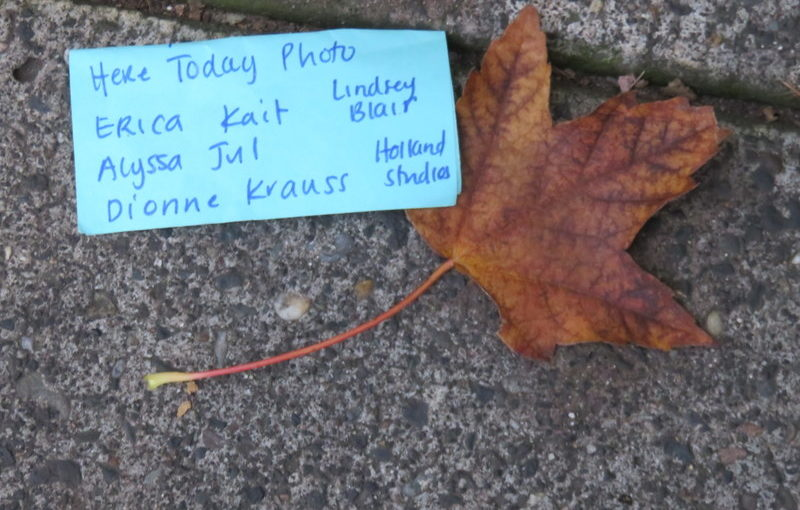 Lost note and fall color