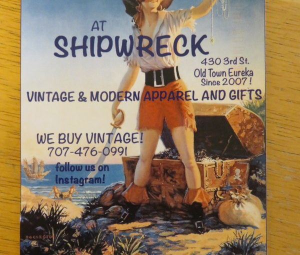 SKS Postcard: Shipwreck of Eureka