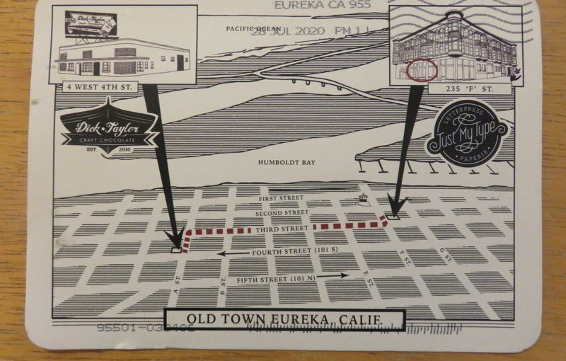 SKS Postcard Eureka Map