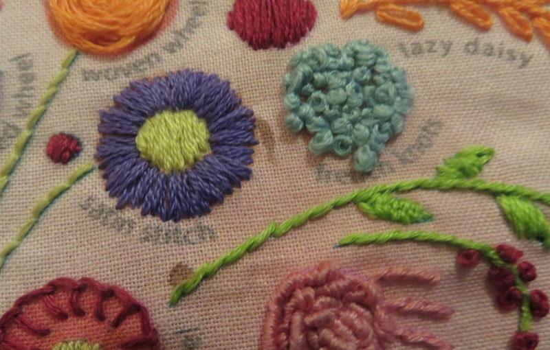 Little Dear Floral Bouquet Sampler Finished