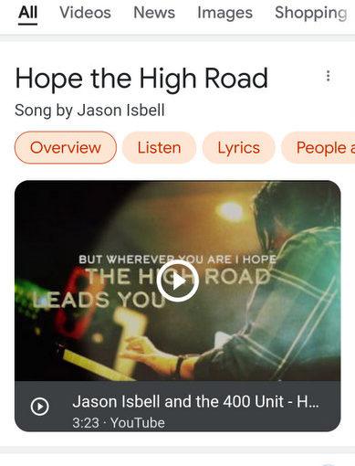 Random Song: Hope The High Road